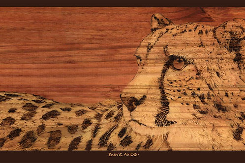 'BURNT AMBER' LIMITED EDITION CHEETAH PRINT