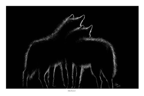 'SOULMATES' OPEN EDITION WOLF PRINT