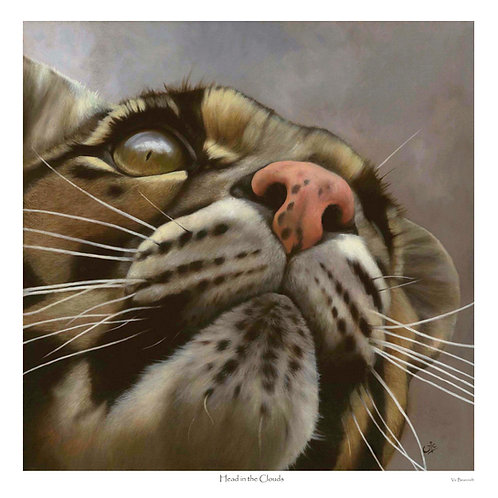 'HEAD IN THE CLOUDS' LIMITED EDITION CLOUDED LEOPARD PRINT