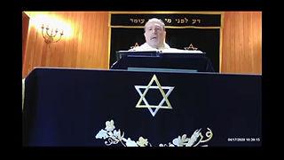 Rabbi Axelman chanting Haftara for Sh'mini