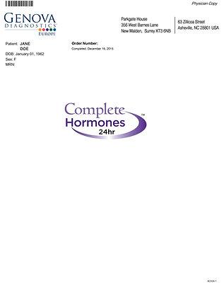 Complete Hormones; 24 hrs urine:END23