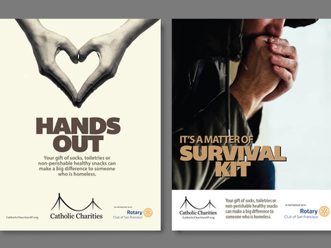 Branding campaign for Catholic Charities San Francisco