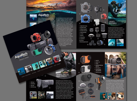 Aquatech's 18/19 Product Catalog Design.