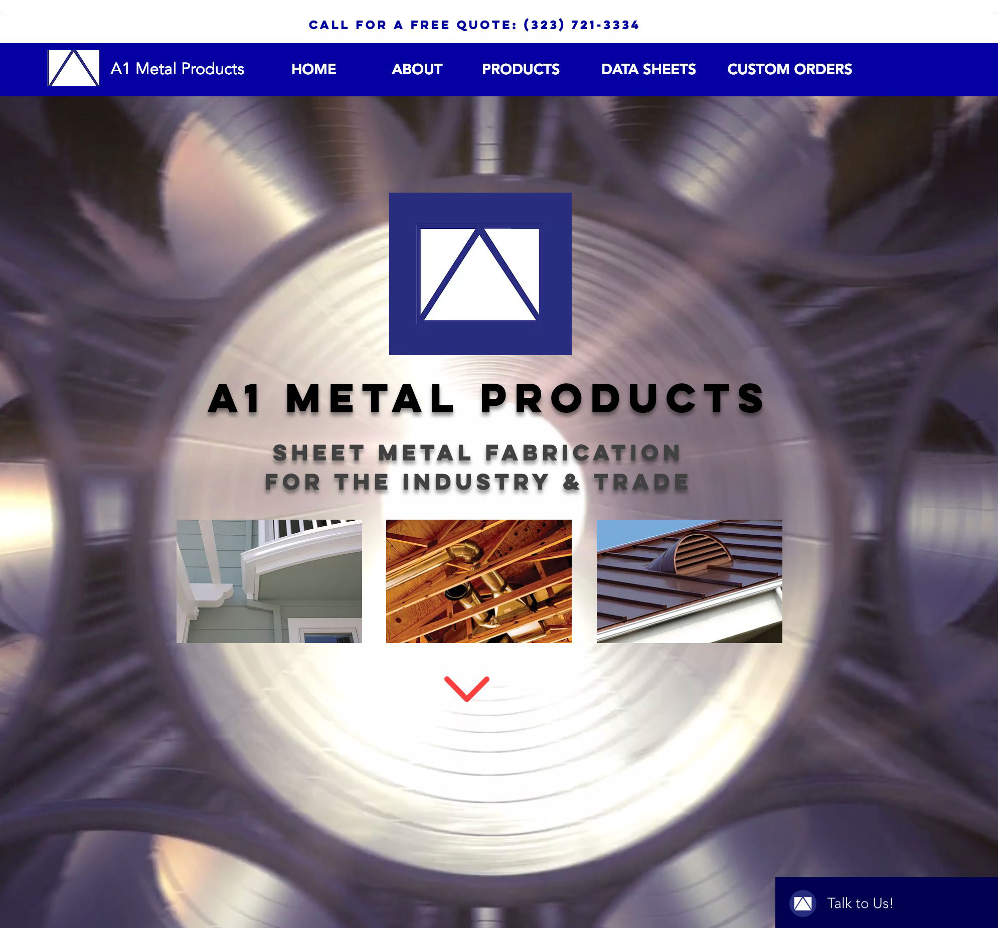 A1 Metal Products website