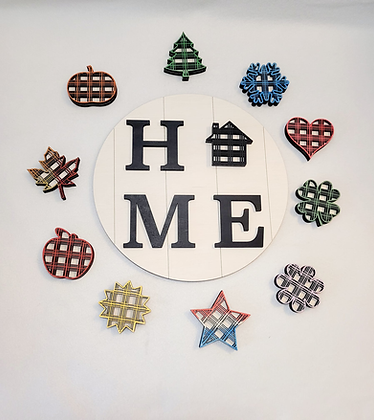 Interchangeable Shiplap HOME sign