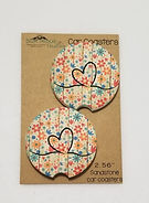 flower with heart car coasters.jpg
