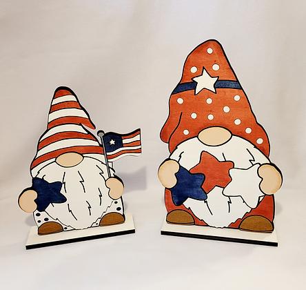 Set of 2 Patriotic gnomes