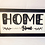 """Thumbnail: """"Home is where the heart is"""" wall hanging"""