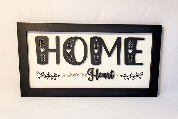 """""""Home is where the heart is"""" wall hanging"""