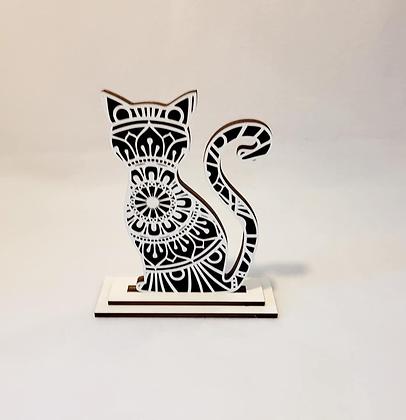 Cat Kitty mandala stand
