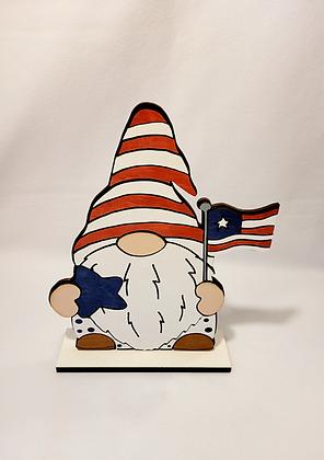 Patriotic Flag gnome