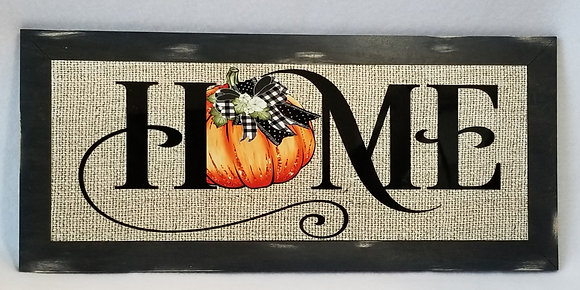 home wall sign pumpkin fall