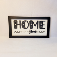 HOME WHERE THE HEART IS  sign