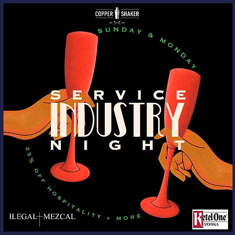 Copper Shaker Service Industry Night IG