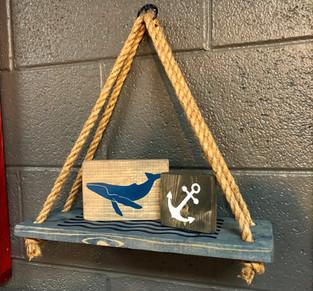 #604 Hanging Shelf Nautical
