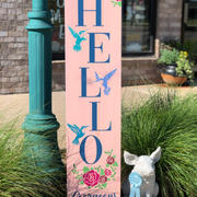 #2811 Hello Gorgeous Hummingbird Porch 1