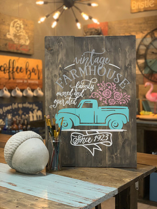#714 Vintage Flower Truck