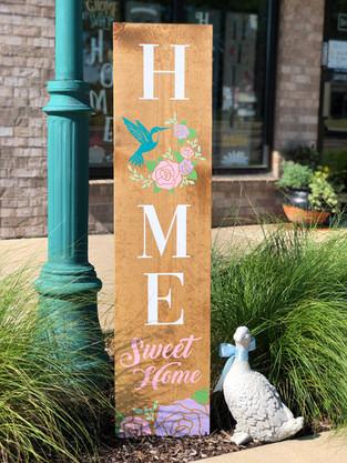 #1006 Home Sweet Hummingbird Porch 12x48