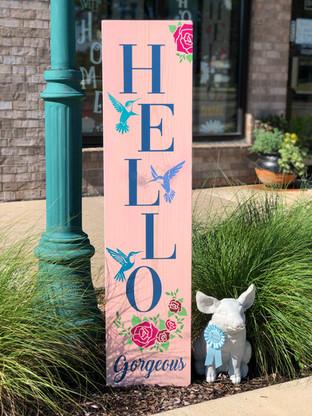 #2811 Hello Gorgeous Hummingbird Porch 1