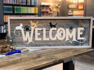 #1808 Dogs Welcome Framed.JPG
