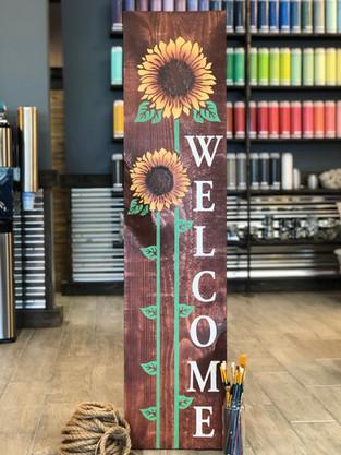 #2801 Welcome Sunflowers Porch 12x48.JPG