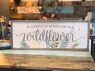 #1310 Wildflower Framed