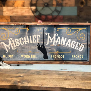 Mischief Managed Framed