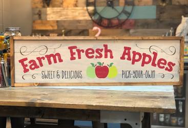 #707 Farm Fresh Apples Framed
