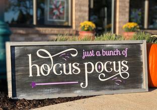 #917 Bunch Of Hocus Pocus Framed 13x32.J