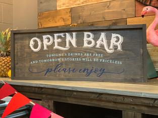 #100 Open Bar Framed