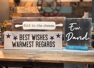 Fold Cheese Express, Best Wishes Express, Ew David Express