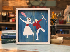 Framed Mary and Bert