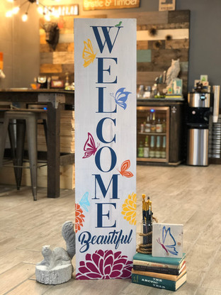 #2803 Welcome Beautiful Butterfly Porch