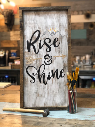 #2002 Rise and Shine Vertical Framed 12x