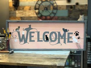 #1809 Cats Welcome Framed.JPG