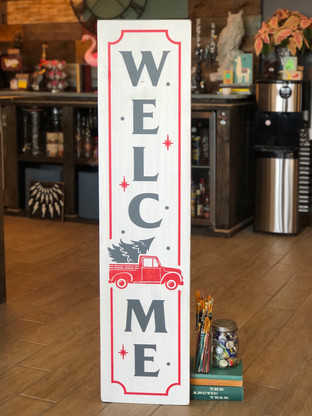 #983 Red Truck Welcome Porch.JPG