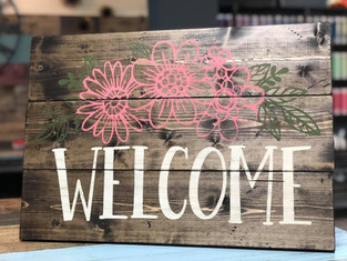 #2807 Welcome Floral 18x24.JPG
