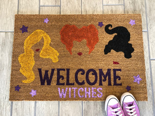 Witches Welcome Doormat