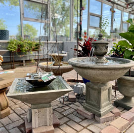 50% Off Cement Fountains and Benches