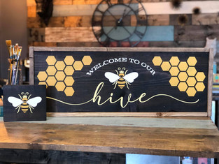 #1009 Welcome To Our Hive Framed.jpg