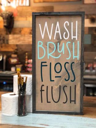 #301 Wash Brush Framed