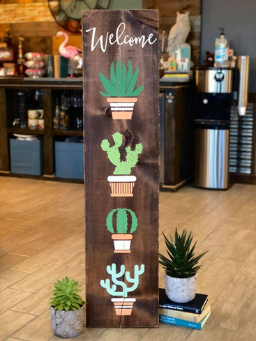 #718 Welcome Succulent Porch
