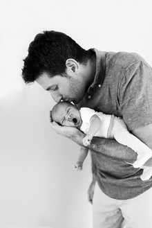 Dad and newborn san jose photographers