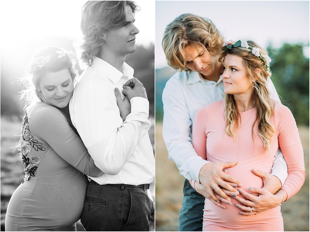 Pregnant couple in Los Altos, Ca for maternity photographer