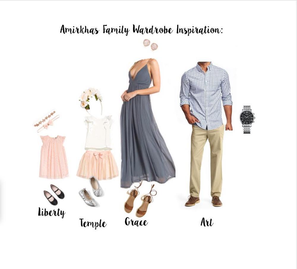 Family photo session wardrobe ideas for Los Altos