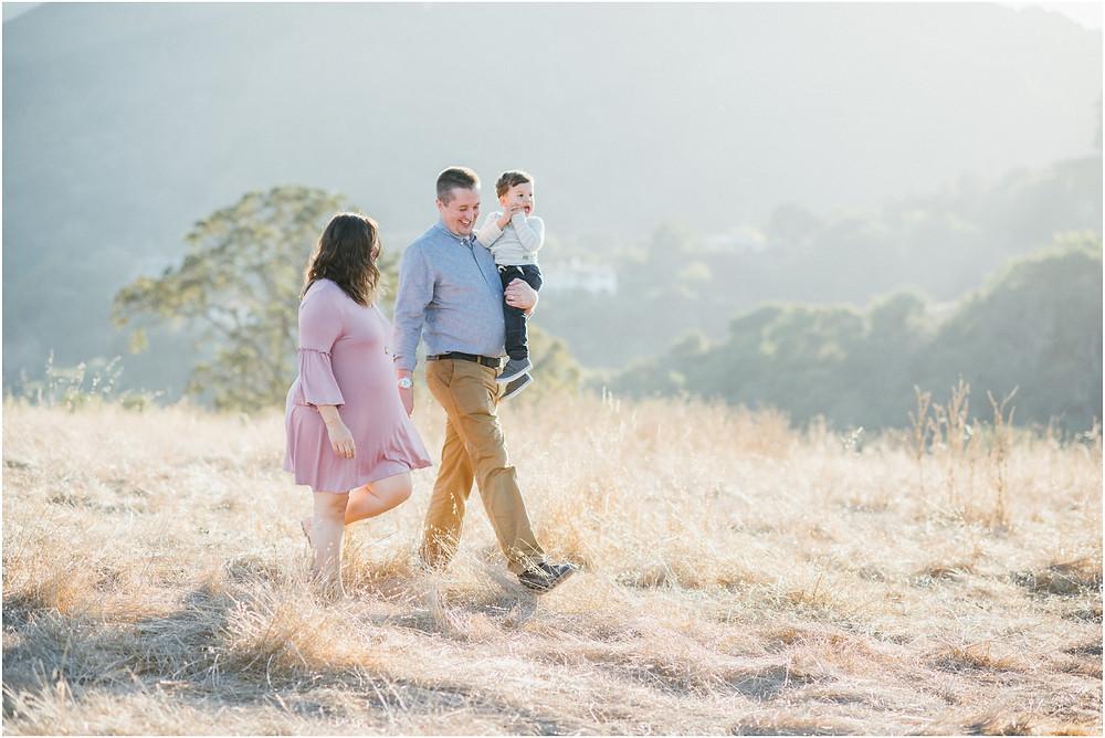 Family maternity session in Los Altos, Ca