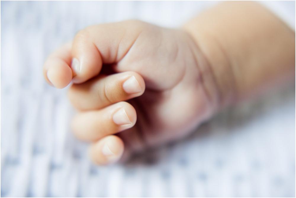 Macro shot of baby's fingers