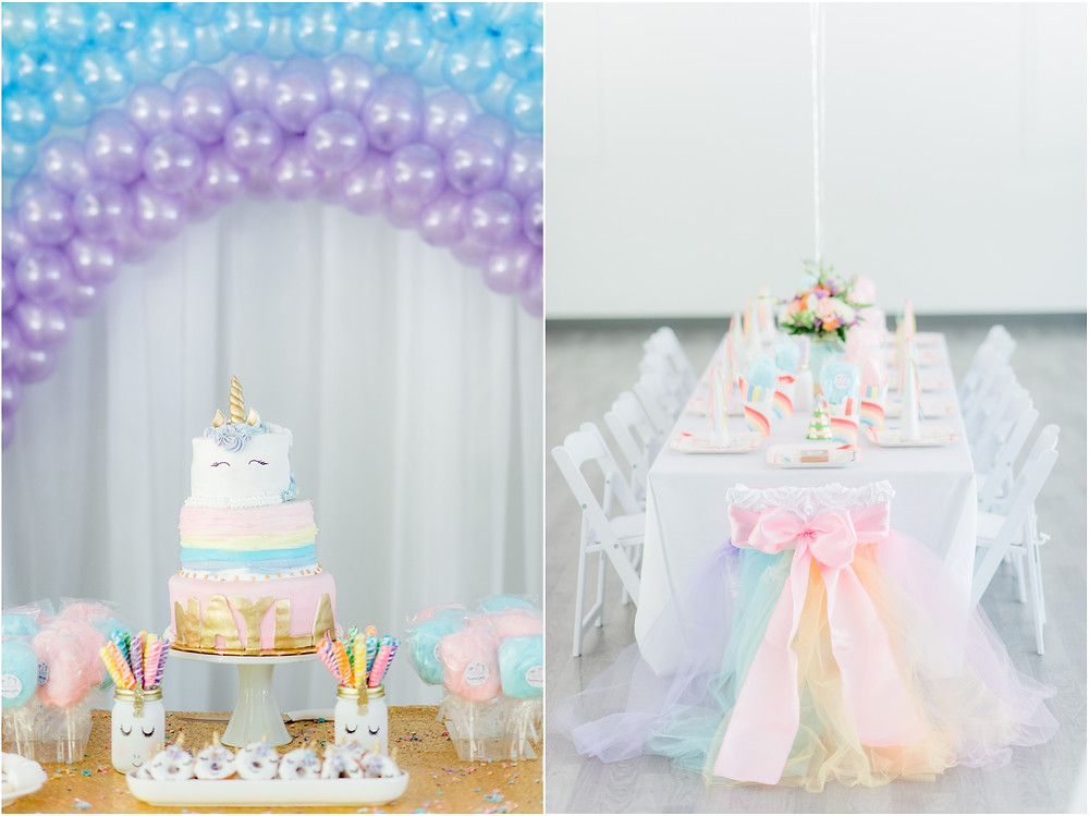 Unicorn birthday party details in Bay Area