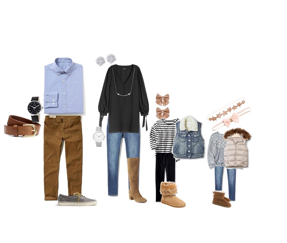 Family photo session wardrobe ideas for San Jose