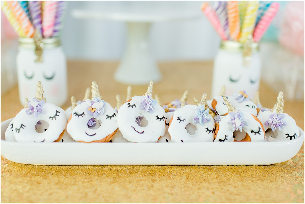 Unicorn cookies for birthday party